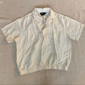 Off White Collared Shirt RALPH LAUREN